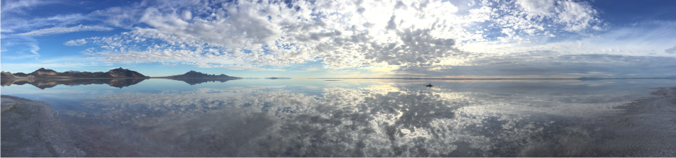 salt flats huge mirror